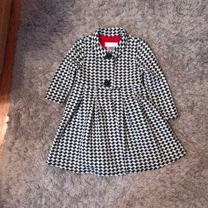 Bonnie baby Toddler Black n white Coat w red dress